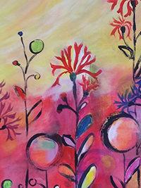 Der große Himmel, Detail, 65 x 81,5, Acryl auf Leinwand,Vera Briggs
