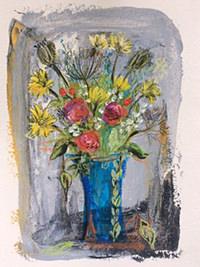 Sommerblumen I, 26 x 32, Acryl auf Leinwand, Vera Briggs