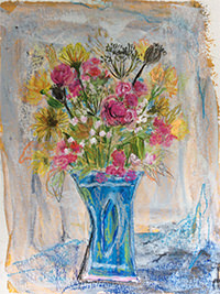 Sommerblumen II 26 x 32, Acryl auf Leinwand, Vera Briggs