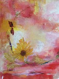Sommerblumentanz, Detail, 30 x 30, Acryl auf Leinwand, Vera Briggs