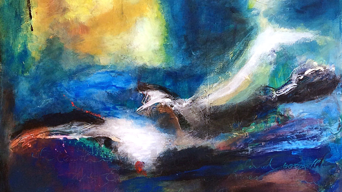 Lebendiges Wasser II, 40 x 50, Acryl auf Leinwand, Vera Briggs