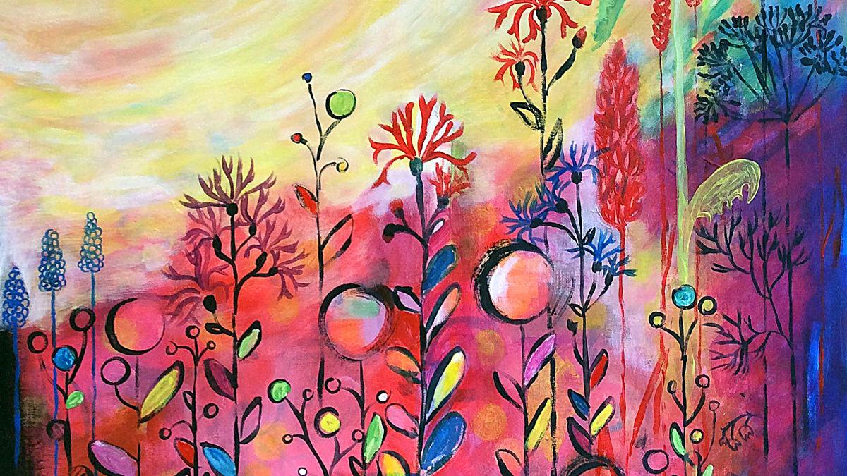 Der große  Himmel, 65 x 81,5, Acryl auf Leinwand, Vera Briggs