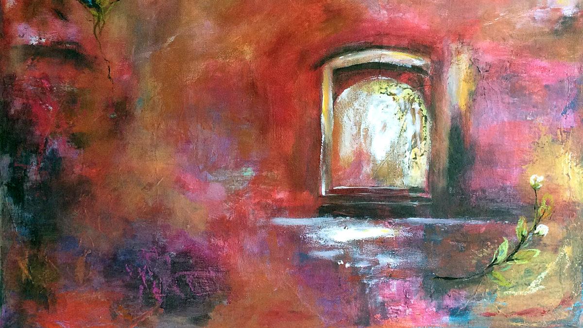 Die offene Tür, 61x50, Acryl auf Leinwand, Vera Briggs